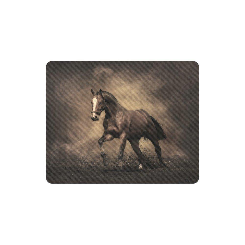 Mustang Horse Rectangle Mousepad Non Slip Neoprene