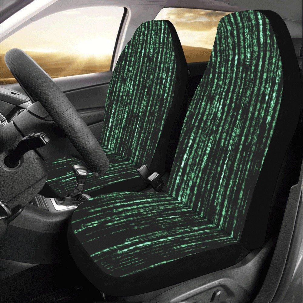 Matrix Computer Coding Car Seat Covers (Set of 2)