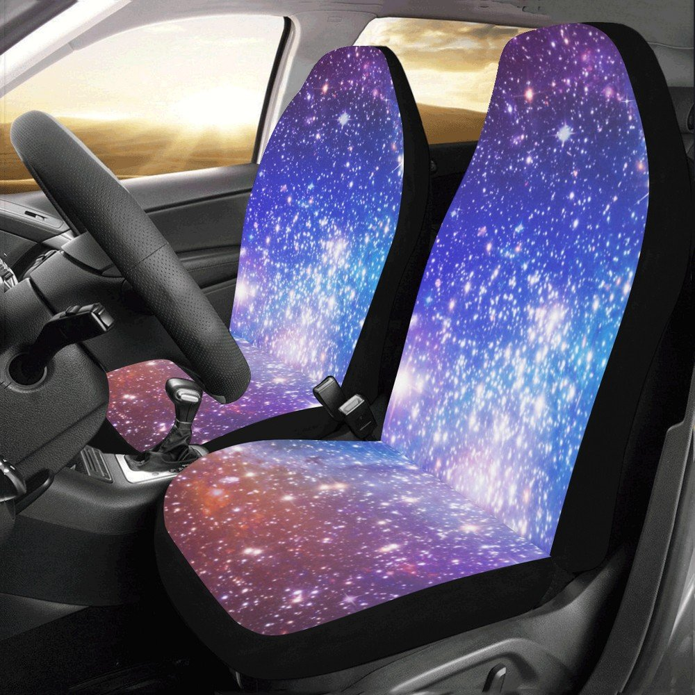 Galaxy Nebula Stars Universe Car Seat Covers (Set of 2)