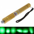 5mW Focus Starry Pattern Green Light Laser Pointer Pen Yellow