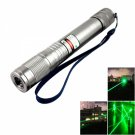 5MW 532nm Waterproof Green Laser Pointer Pen Silver