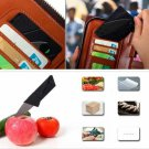 2-in-1 Multi-purpose Stainless Steel Ultralight Folding Portable Credit Card Pocket Camping Tool