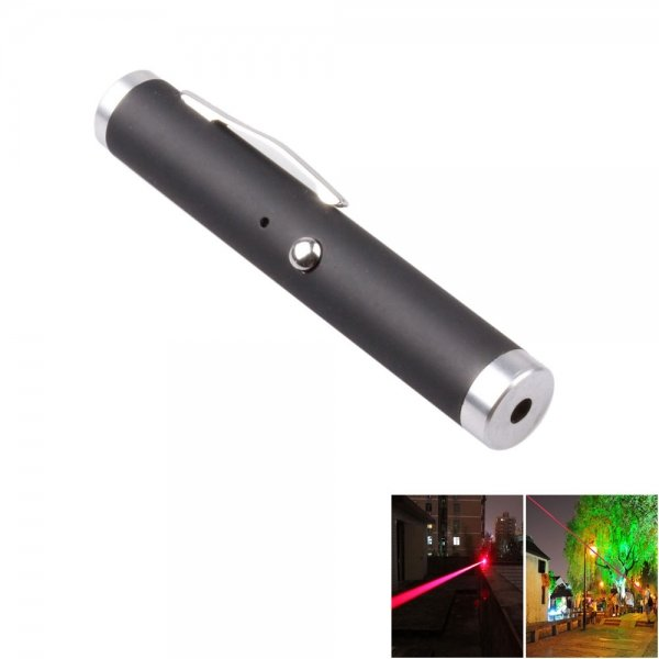 Short 5mw 650nm Red Laser Beam Laser Pointer Pen with USB Cable Black