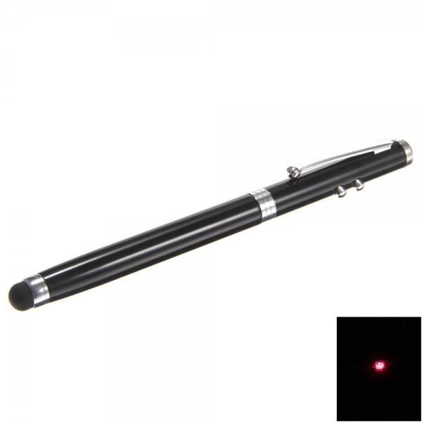 DW 4 in 1 1mv Red Laser Beam Laser Pointer Pen Black