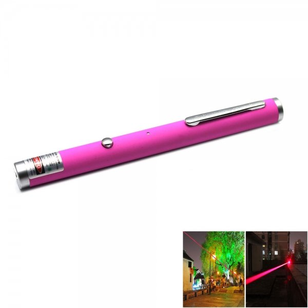5mw 650nm Red Laser Beam Single-point Laser Pointer Pen with USB Cable Pink