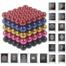 125pcs 5mm DIY Buckyballs Neocube Magic Beads Toy Black & Dark Blue & Red & Rose Red & Golden