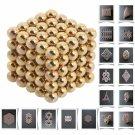 125pcs 5mm DIY Buckyballs Neocube Magic Beads Magnetic Toy Golden