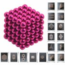 125pcs 5mm DIY Buckyballs Neocube Magic Beads Magnetic Toy Rose Red