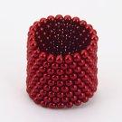 216pcs 3mm DIY Buckyballs Round Shape Neocube Magnet Toy Magic Ball Red