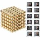 216pcs 5mm DIY Buckyballs Neocube Magic Beads Magnetic Toy Golden