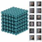 216pcs 5mm DIY Buckyballs Neocube Magic Beads Magnetic Toy Light Blue