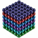 216pcs CHEERLINK CN-216 5mm Neodymium Magnet Balls DIY Puzzle Set Multicolored