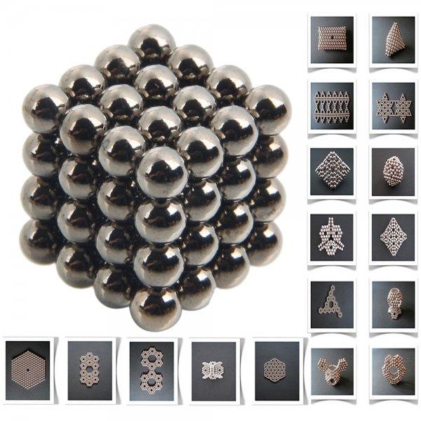 64pcs 5mm DIY Buckyballs Neocube Magic Beads Magnetic Toy Black