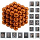 64pcs 5mm DIY Buckyballs Neocube Magic Beads Magnetic Toy Orange