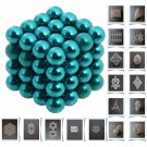 64pcs 5mm DIY Buckyballs Neocube Magic Beads Magnetic Toy Water Blue
