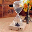 Creative Toy Iron Powder Magnet Hourglass with Wooden Holder