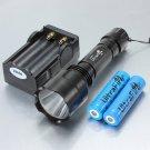 C8 Cree XM-L T6 2000LM 5 Modes White Light LED Flashlight Black