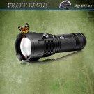 3*CREE XML-XPE Multifunctional 1600LM 6-Mode White & Blue & Yellow Light Portable Flashlight Black