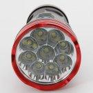 Skyray King 9 x CREE XM-L T6 15000 Lumens LED Aluminum 3-Mode Flashlight Black