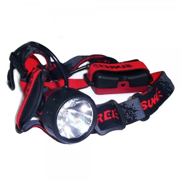 Sunrei Search2 Xenon Light Bulb Double beam Headlamp Red (3*AA)