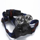 BD6067 Cree T6 LED 1200 Lumen 5 Modes Rechargeable Dual-Burner Headlamp Silver