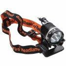 BD10108 Cree XM-LU2 LEDs 1200 Lumen 3 Modes Rechargeable Hard Light Bicycle Light Head Lamp Black