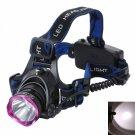 BD6075 Cree T6 LED 1800 Lumen 4 Modes 180 Degree Rotating Flat Headlamp Black + Purple