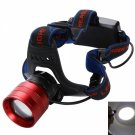 BD6065 CREE T6 LED 1800LM 3 Modes Rotatable Focus Headlamp Red