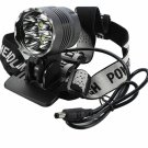 Cree XML 4*T6 7000LM 3 Modes Waterproof Zoomable Headlamp Set Silver