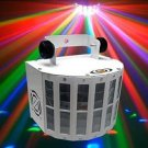 30W RGB DMX 512 LED Stage Light Voice Activated Control Laser Projector White (US/EU Standard Plug)