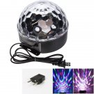20W LED 6 Color Crystal Ball Shaped Stage Light with Remote Control Black (US/EU Standard Plug)
