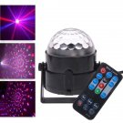 Upgraded 120-Degree Voice Control RGB Light LED Stage Lamp with Remote Controller Black