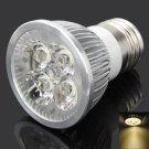 DB-CE401 E27 4W 2500-3200K 380LM Warm White 4-LED Spot Light Bulb Silver (87~265V)