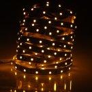 5M 30W 300 LED 3528 SMD 560-590nm Decorative Light Strip Yellow (DC 12V)