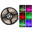 Waterproof 300-LED SMD3528 RGB IR44 Controller 5M Flexible LED Light Strip with Remote Control