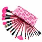 18pcs Professional Makeup Brush Set Rose