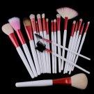 20pcs Professional Cosmetic Makeup Brush Set Pink Bag FC0407002
