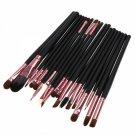 20pcs Pro Cosmetic Tools Eye Make-up Brushes Kit Eyeshadow Eyeliner Brush Coffee