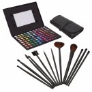 88 Color Matte Shimmer Eyeshadow Palette with 12pcs Makeup Brush Set