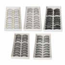 50 Pairs in 5 Styles New Makeup Fake False Eyelashes Eye Lash Set 001