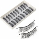 10 Pairs Pro Makeup Natural Long False Fake Eyelashes Black P31