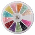 4 Style Nail Art DIY Rhinestones Decorations Colorful