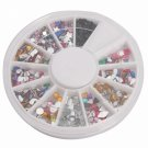 12 Shapes Nail Art Rhinestones Multi-color 20#