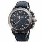 Round Black Dial Vintage Arabic Numeral Scale Men Stainless Steel Wrist Watch Black
