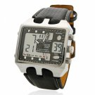 Tetragonum Square Waterproof and Night Vision Quartz & Electronic Dual-movement Alloy Case Men Watch