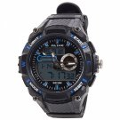 ALIKE Dual Display Multifunction Waterproof Electronic Outdoor Sports Male Men Wrist Watch Blue