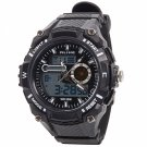 ALIKE Dual Display Multifunction Waterproof Electronic Outdoor Sports Male Men Wrist Watch White