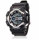 ALIKE AK14111 Dual Display Multifunction Waterproof Electronic Outdoor Sports Male Wrist Watch White