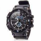 ALIKE Dual Display LED Digital Multifunction Waterproof Electronic Outdoor Sports Male Watch White
