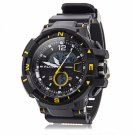 ALIKE Dual Display LED Digital Multifunction Waterproof Electronic Outdoor Sports Male Watch Yellow
